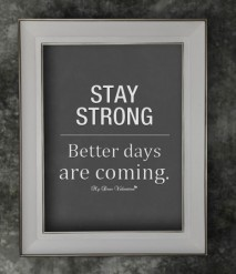 Motivational Quotes - Stay strong better days are coming