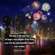 New Year Picture Quote - New chapter