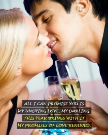 New Year Picture Quote - Undying love
