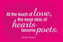 Romantic Picture Quotes - At the touch of love
