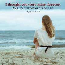 Sad Love Picture Quotes - I thought you were mine