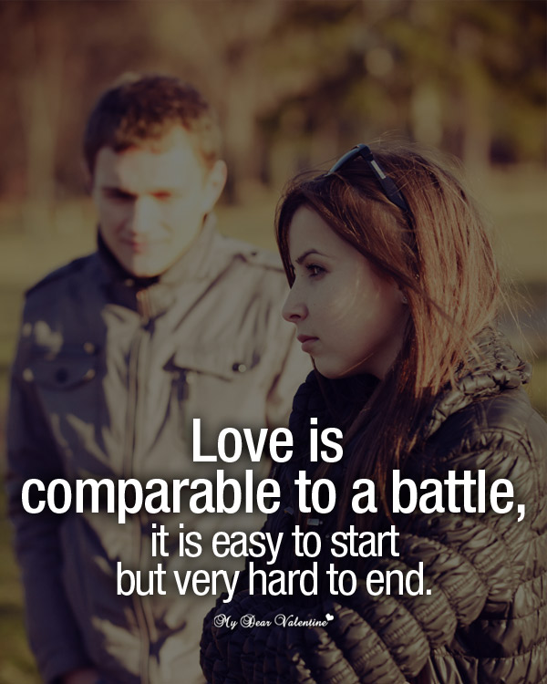 Sad Love Picture Quotes - Love is comparable