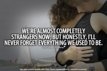 Sad Love Quotes - We are almost completely strangers