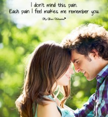 Sad Love Picture Quote - Don't mind this pain