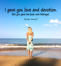 Sad Love Picture Quote - Love and devotion