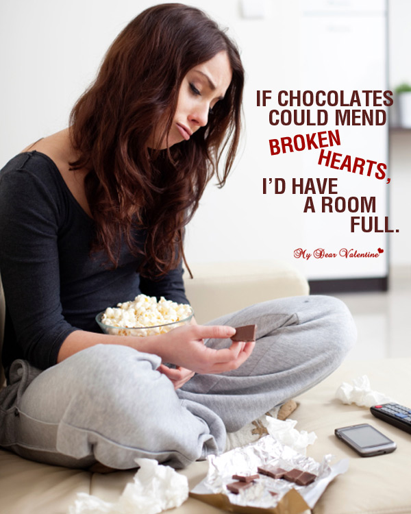 Sad Love Picture Quote - Is Chocolate Enough