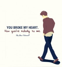 Sad Love Picture Quote - You're Nobody