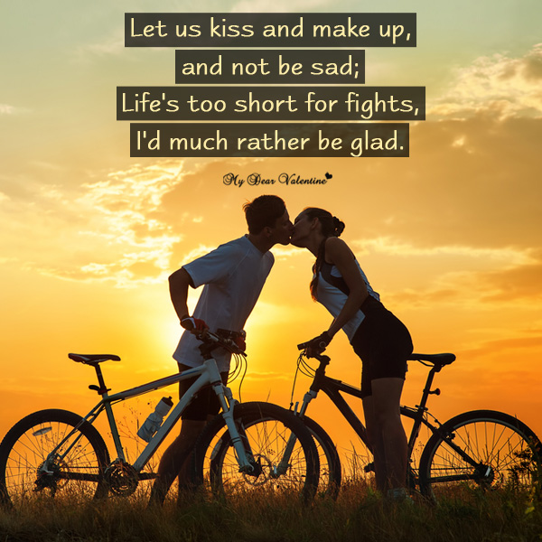 Sweet Love Picture Quote - Let us kiss and make up
