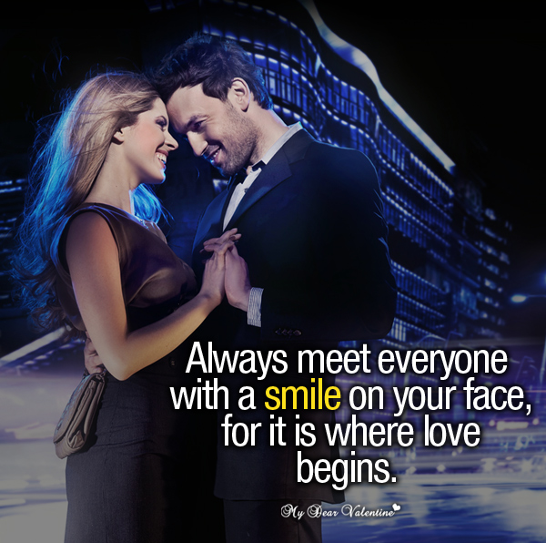 Sweet Love Picture Quotes - Always meet everyone