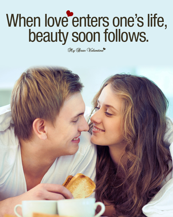 Sweet Love Picture Quotes - When love enters