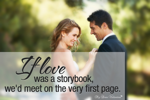 Sweet Love Quotes - If love was a storybook