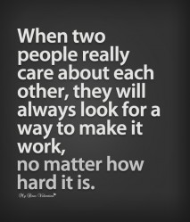 Sweet Love Quotes - When two people really care about each other