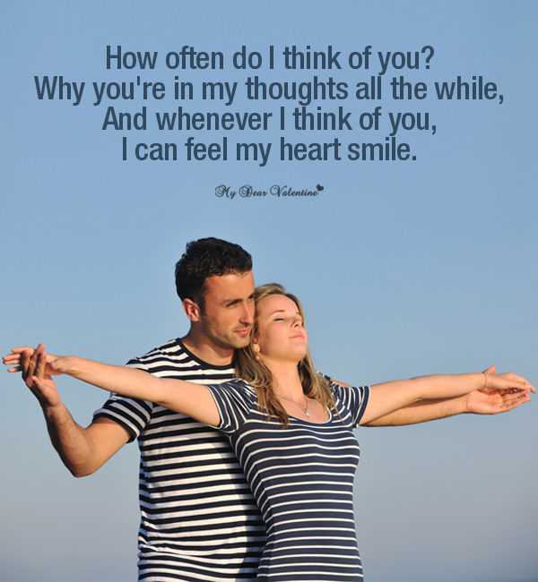 Thinking Of You Picture Quote - How often do I think