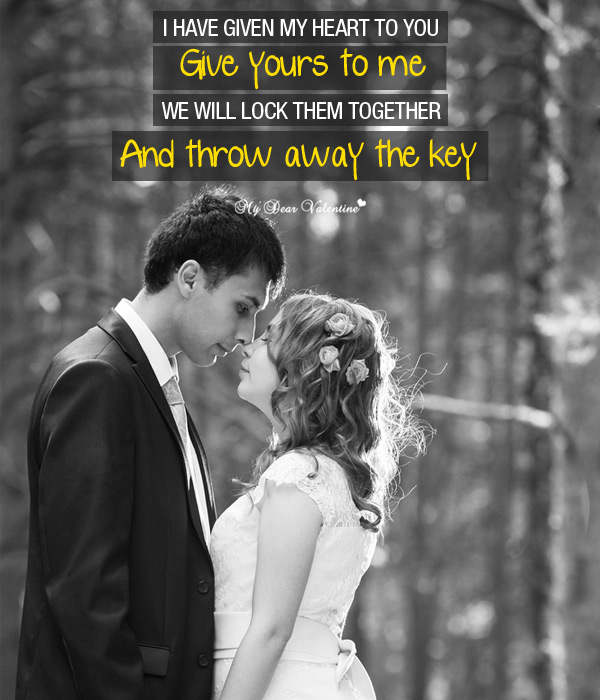 Valentine Picture Quotes - Key to Hearts