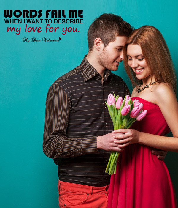 Valentine Picture Quotes - Lost for Words