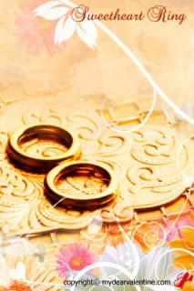 golden wedding bands