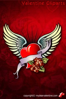 valentine heart and wings
