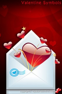heart in love letter