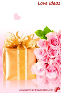 valentine roses and gift