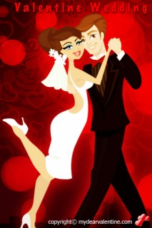 valentine wedding dance