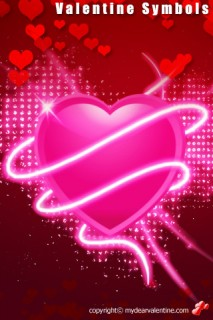 pink and red valentine hearts