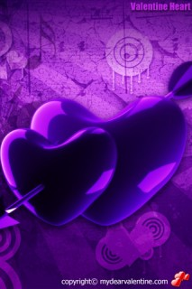 purple hearts and arrow