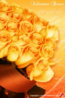 bouquet of yellow valentine roses