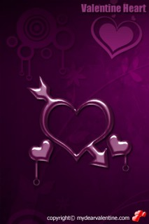 purple valentine heart