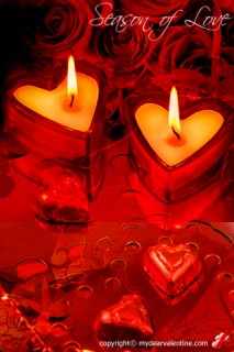 heart shaped candles 1