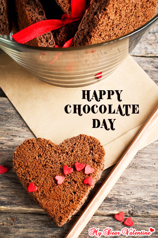 Valentine Picture - Chocolates with love letter