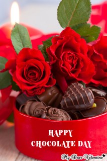 Valentine Picture - Chocolate Gifts and Roses
