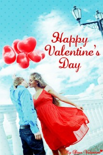 Couple Kissing With Red Balloons -  Valentine Pictures
