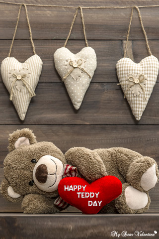 Valentine Picture - Lazy Teddy Day Wallpaper