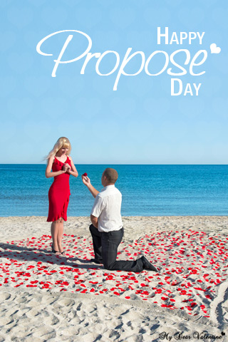 Valentine Picture - Proposal at Beach Side Pictures