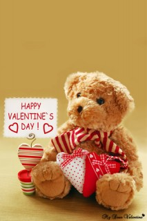 Valentine Picture - Teddy happy valentine day