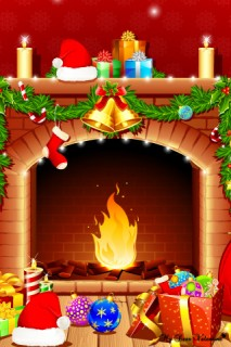 Christmas Wallpaper - Xmas wallpaper bonfire