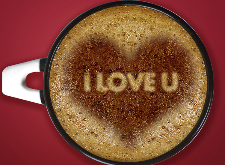 I sent you my heart in that cup of coffee,